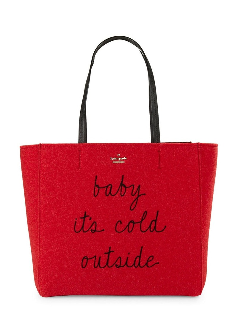 KATE SPADE NEW YORK Letter Print Tote