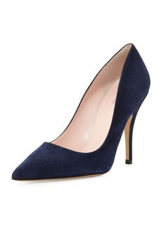 kate spade new york licorice suede pointed-toe pump