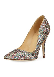 Kate Spade licorice too glitter point-toe pump