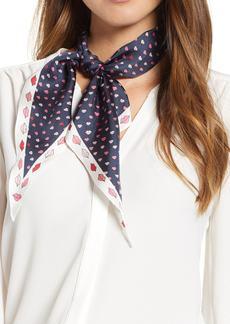 kate spade new york lips diamond silk scarf