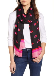 kate spade new york lips oblong scarf