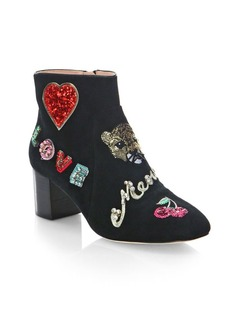 Kate Spade New York Liverpool Embellished Suede Booties