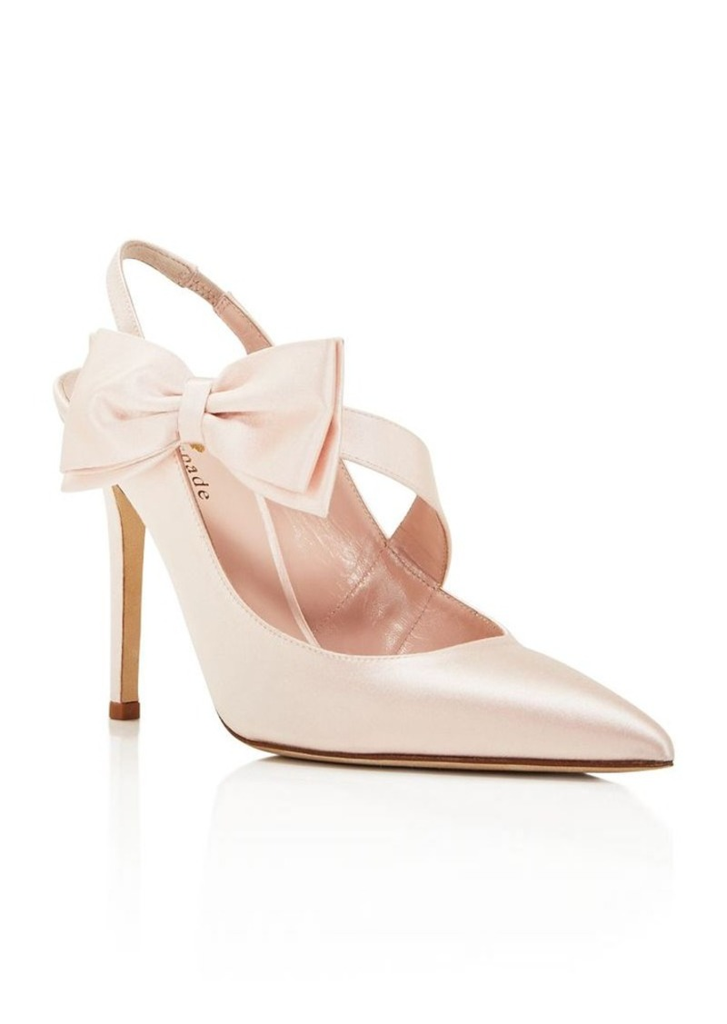 kate spade new york Livia High Heel Slingback Bow Pumps
