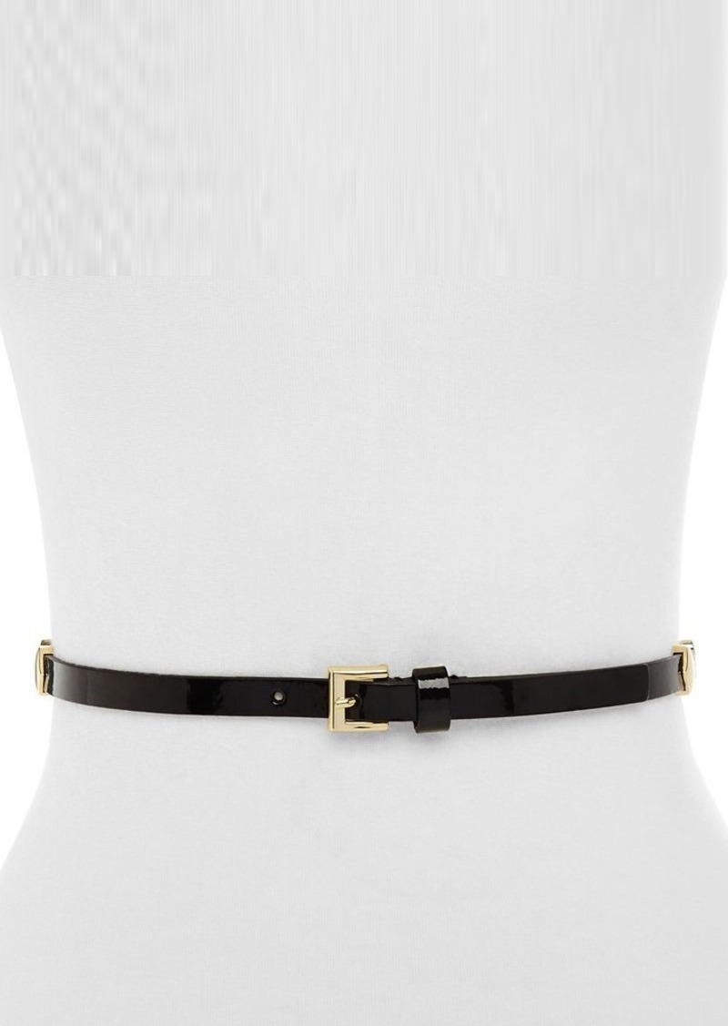 kate spade new york Logo Patent Leather Skinny Belt