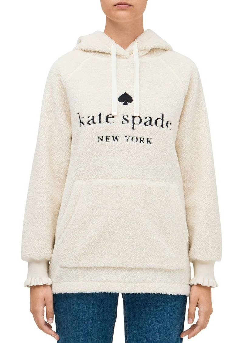 kate spade new york Logo Sherpa Hoodie