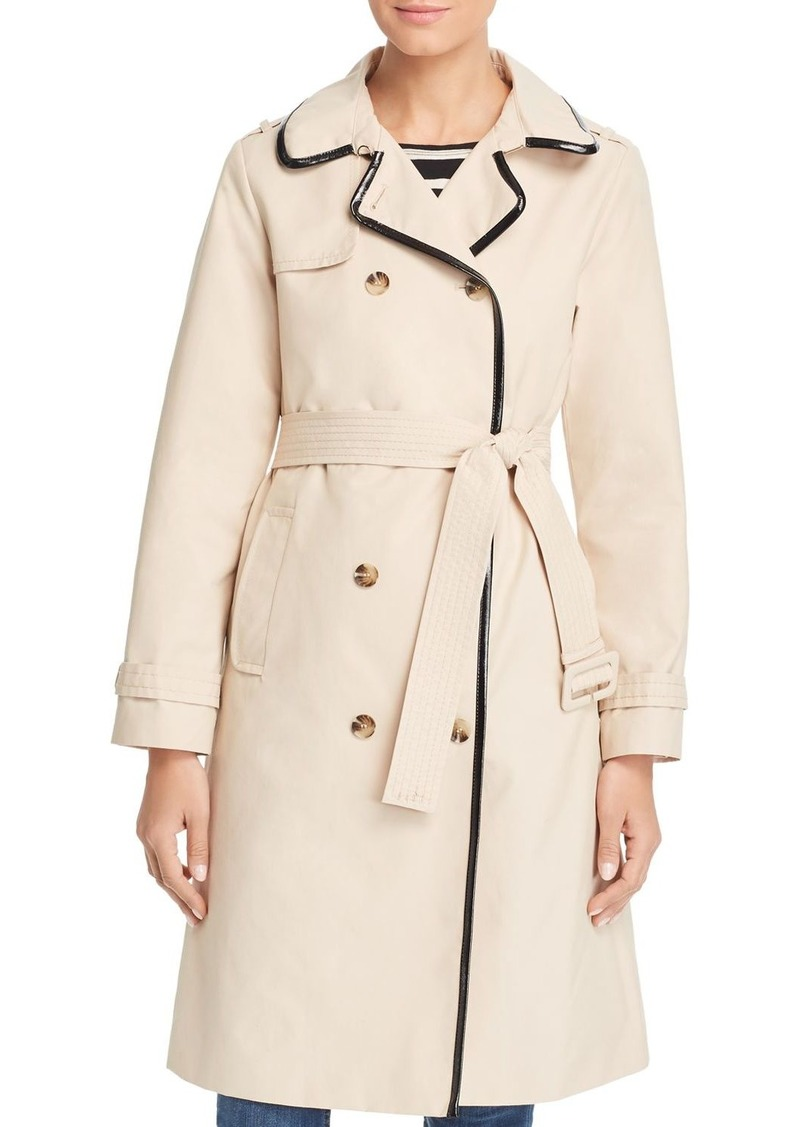 kate spade new york Long Millbrook Twill Raincoat