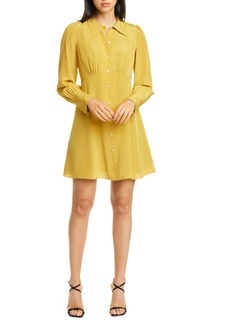 kate spade new york long sleeve silk shirtdress