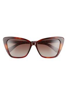 kate spade new york lucca 55mm gradient cat eye sunglasses
