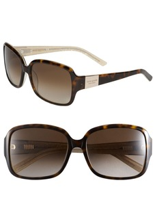 kate spade new york 'lulu' 55mm rectangular sunglasses