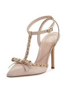 kate spade new york lydia studded leather pump