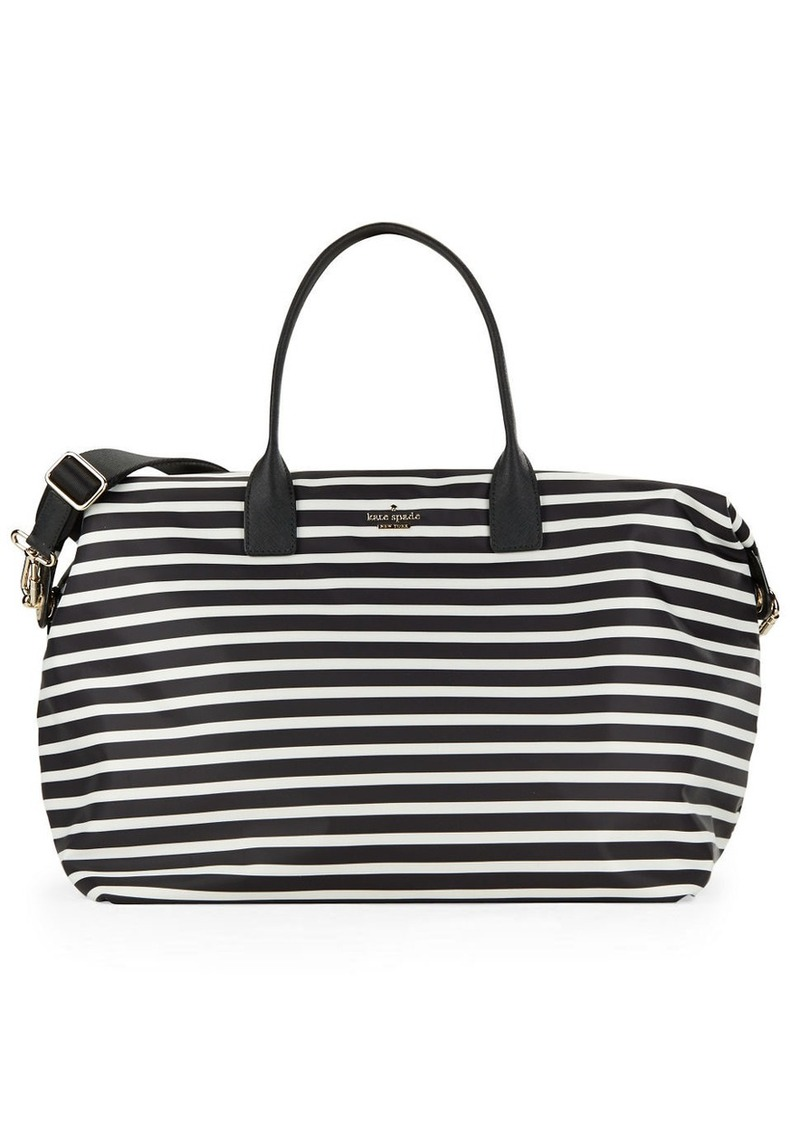 KATE SPADE NEW YORK Lyla Striped Weekender Bag