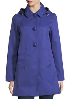kate spade new york mac single-breasted a-line rain coat