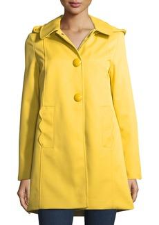 kate spade new york mac single-breasted a-line rain coat