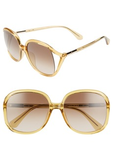 kate spade new york mackennas 58mm gradient square sunglasses