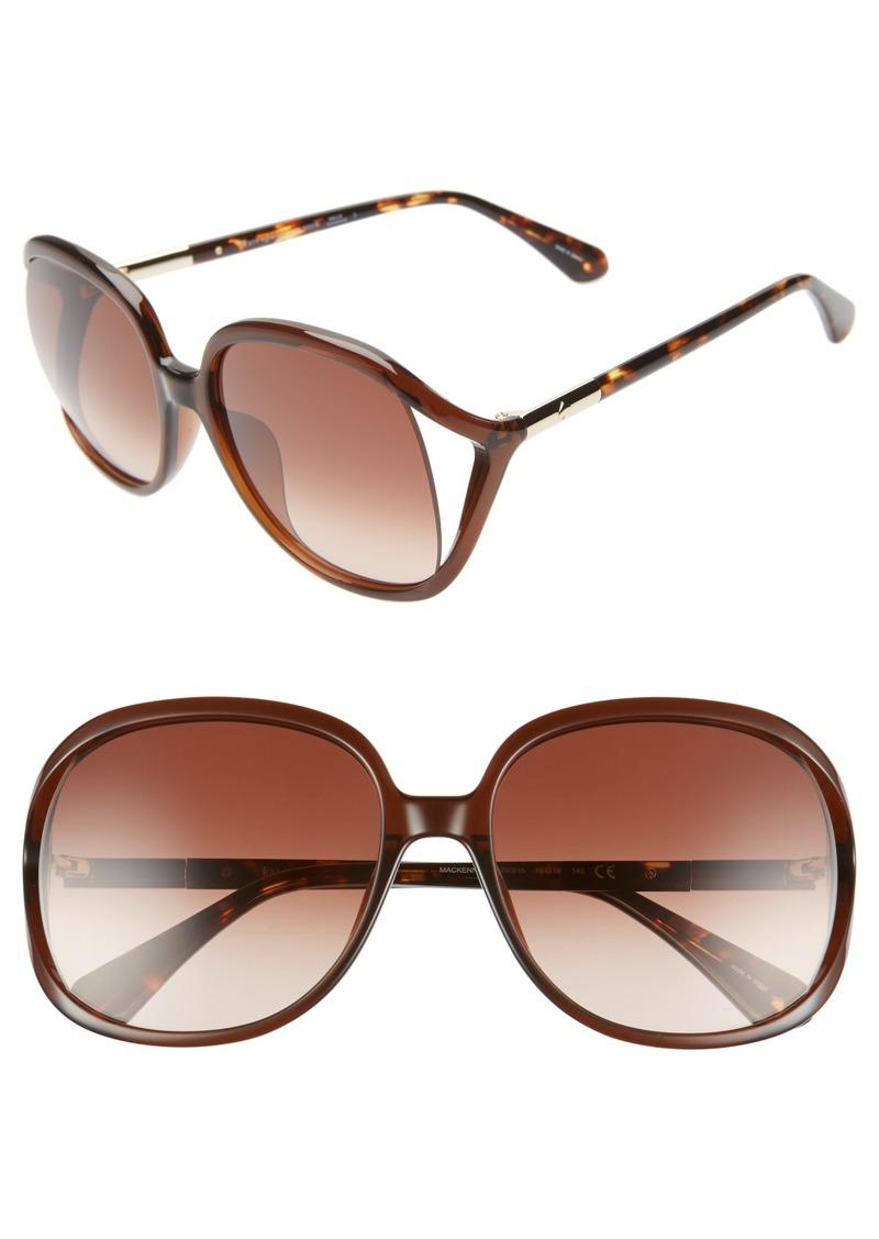 kate spade new york mackennas 58mm gradient square sunglasses