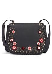 kate spade new york madison daniels drive - tressa embellished leather crossbody bag
