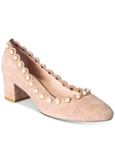 kate spade new york Maeve Pearl-Studded Block-Heel Pumps