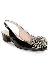 Kate Spade New York Maren Embellished Leather Slingback Heels