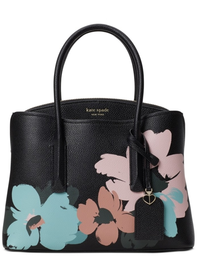 Kate Spade New York Margaux Brush Bloom Leather Small Satchel