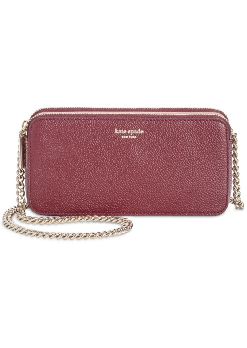 kate spade new york Margaux Leather Double Zip Mini Crossbody