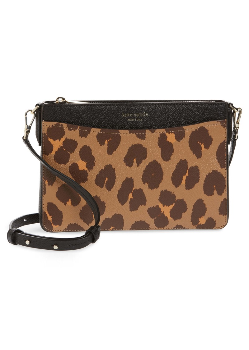 kate spade new york margaux leopard medium convertible crossbody bag