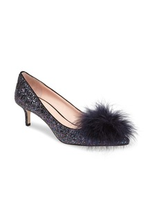 kate spade new york maribou pouf glitter pump (Women)