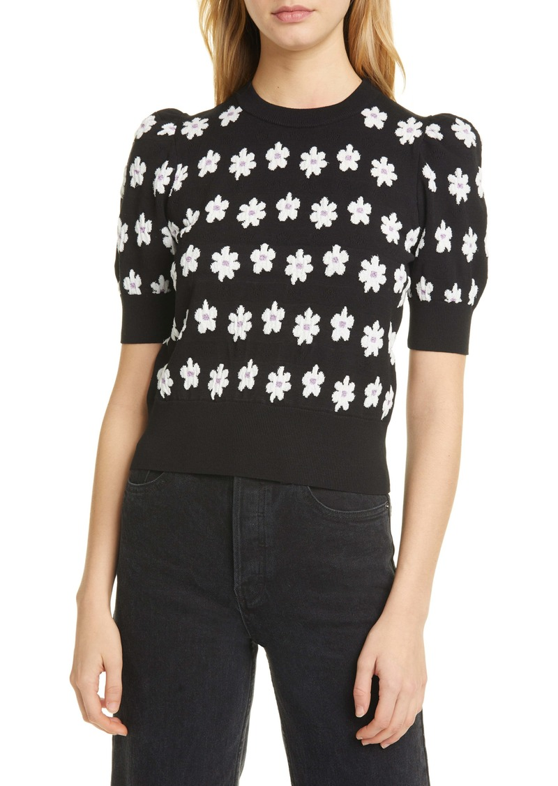 kate spade new york marker floral sweater
