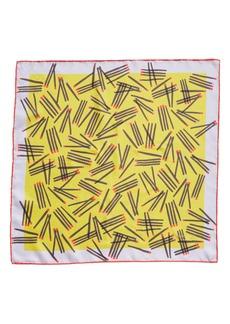 kate spade new york matches print silk scarf