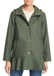 kate spade new york Matte Coated Flounce Jacket