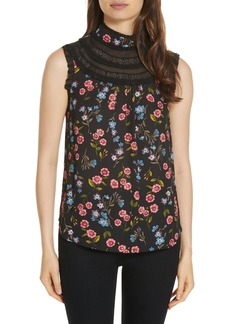 kate spade new york meadow lace trim top