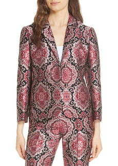 kate spade new york medallion jacquard jacket