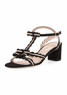 kate spade new york medea low-heel suede sandal with bows