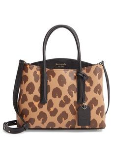 kate spade new york medium margaux leopard print leather satchel