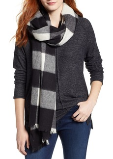 kate spade new york mega check wool scarf