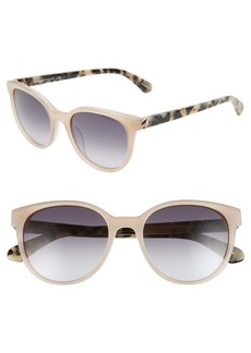 kate spade new york melanie 52mm polarized round sunglasses