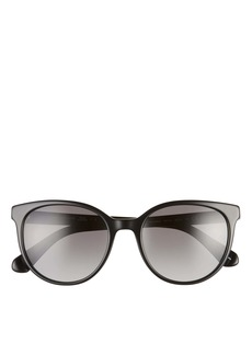 kate spade new york melanies 52mm polarized round sunglasses