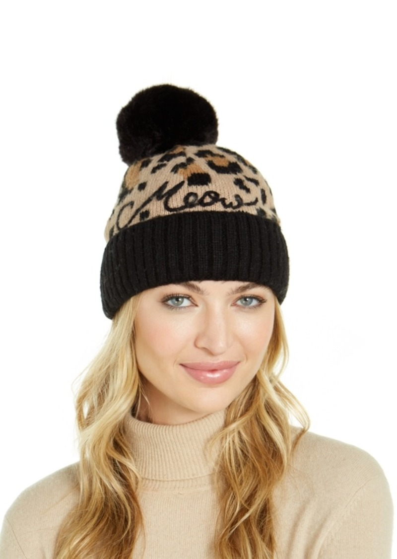 Kate Spade New York Meow Faux-Fur Beanie