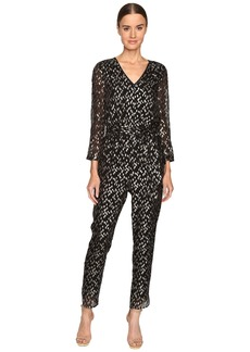 Kate Spade New York Metallic Clipped Dot Jumpsuit