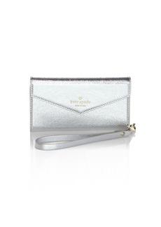 Kate Spade New York Metallic Envelope iPhone 7/8 Wristlet
