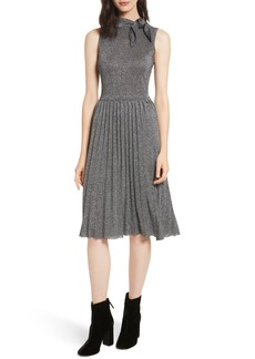 kate spade new york metallic knot sweater dress