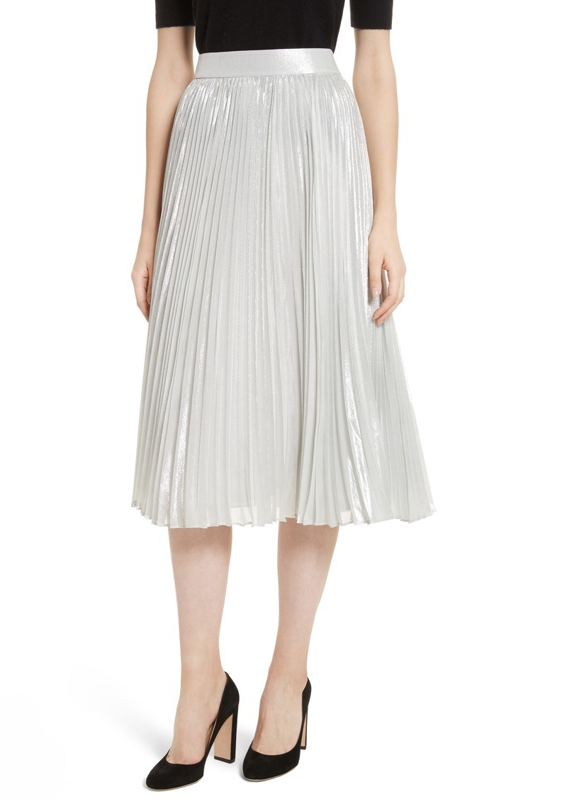 adb27ae8e637 Kate Spade kate spade new york metallic pleat midi skirt | Skirts
