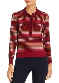 kate spade new york Metallic Striped Polo Sweater