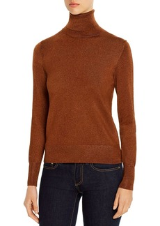 kate spade new york Metallic Turtleneck Sweater
