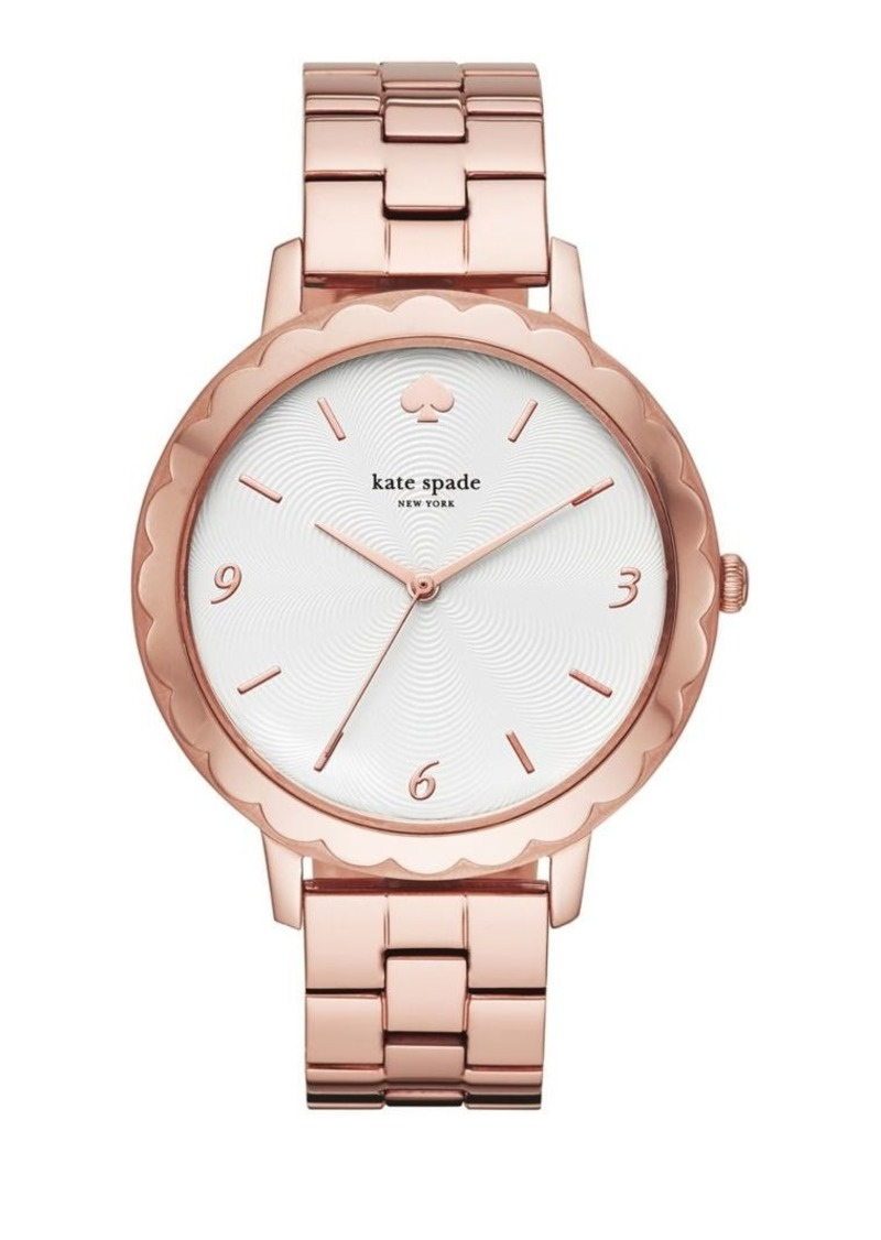 Kate Spade New York Metro Scallop Three-Hand Stainless Steel Bracelet Watch