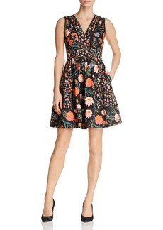 kate spade new york Mixed Blossom Fit-and-Flare Dress