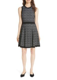 kate spade new york mod plaid sleeveless sweater dress