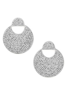 kate spade new york mod scallop pavé drop earrings