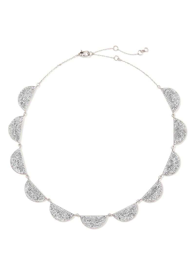 kate spade new york mod scallop pavé necklace