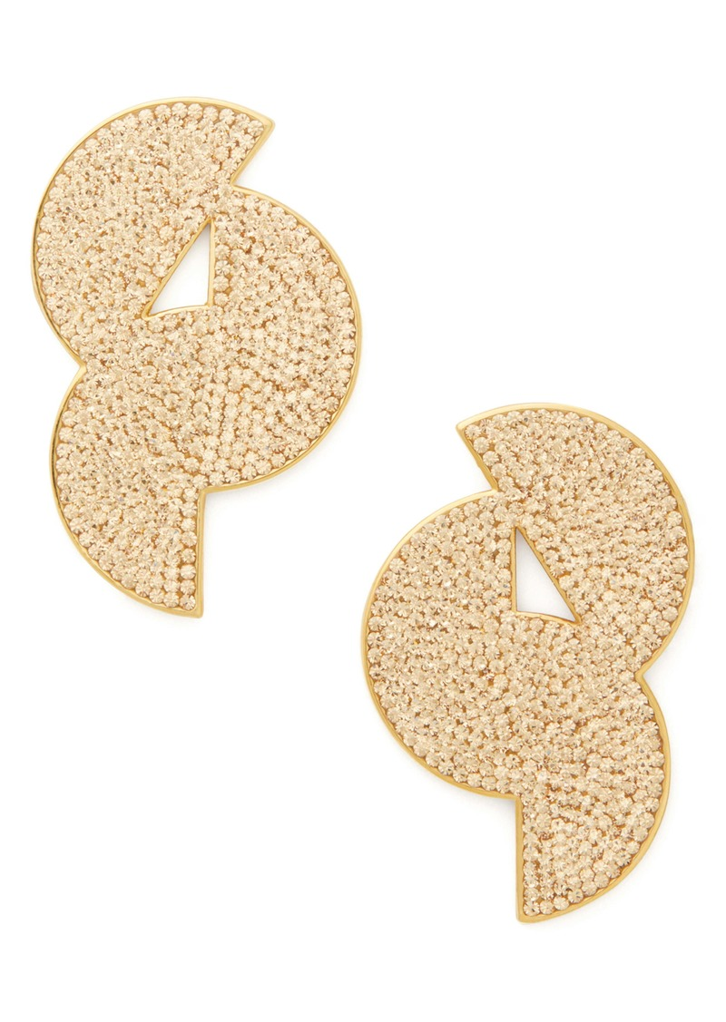 kate spade new york mod scallop pavé statement stud earrings