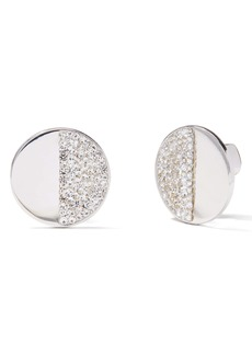kate spade new york mod scallop pavé stud earrings